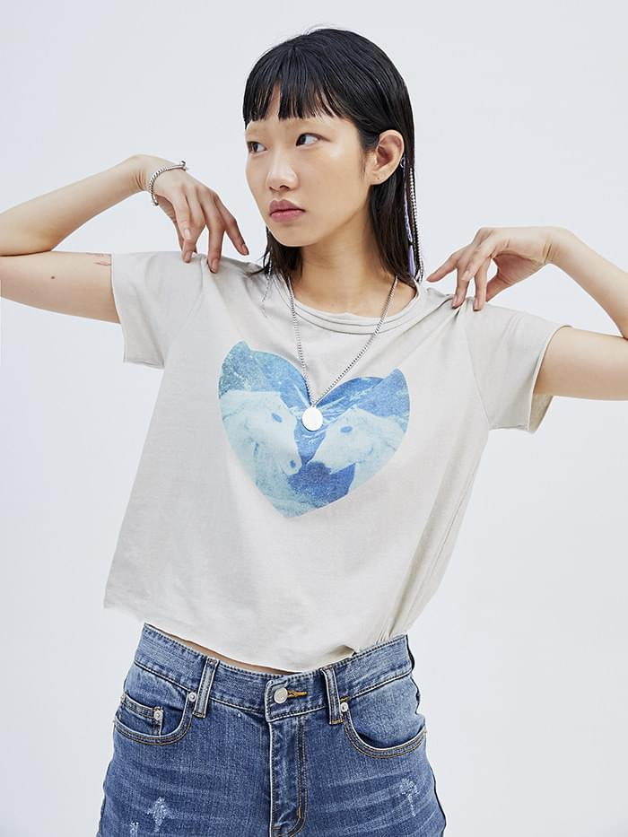 heart unicorn 1/2 T - woman