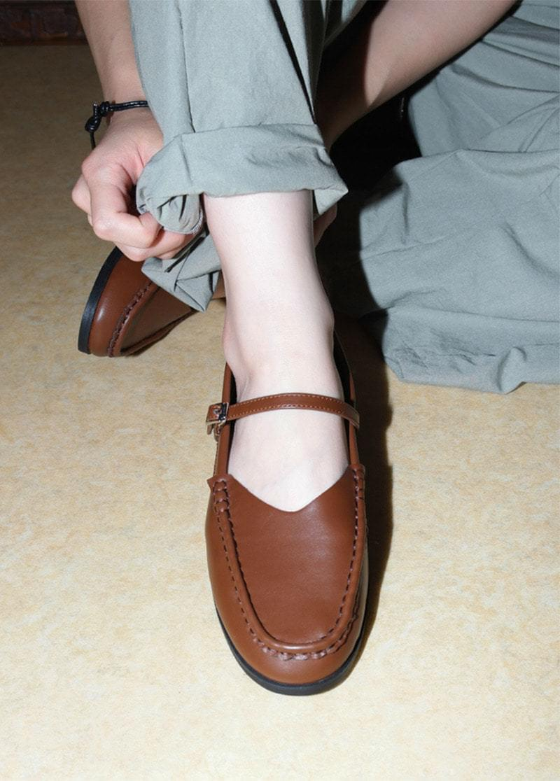 Strap vintage loafers 樂福鞋