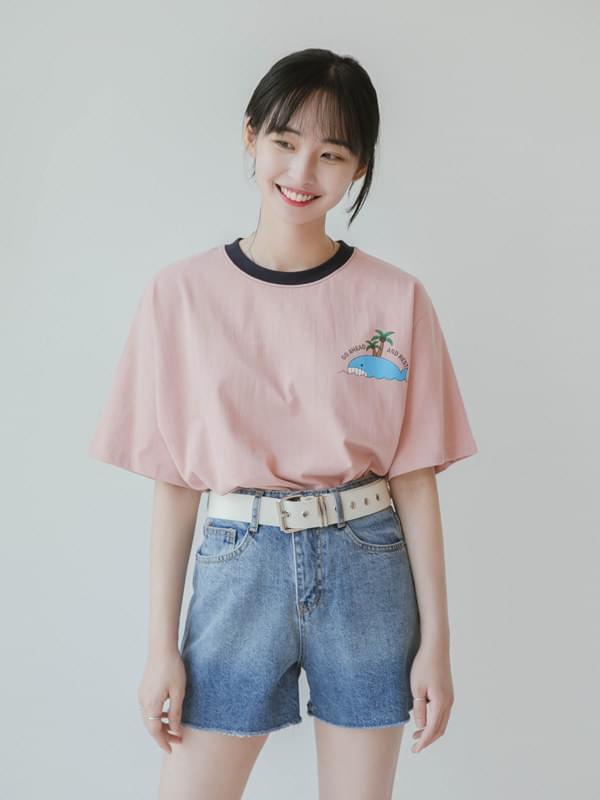 고래고래 크롭 티셔츠 (t0130)