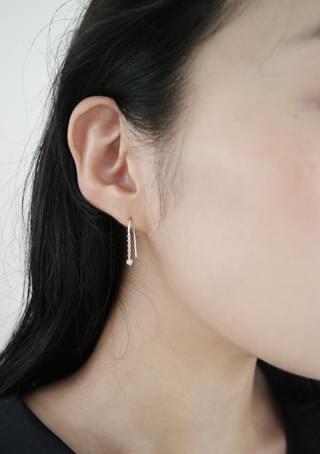 simple beads earrings 耳環
