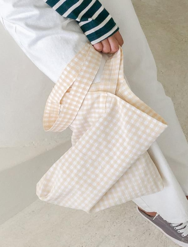 lovely check cotton bag