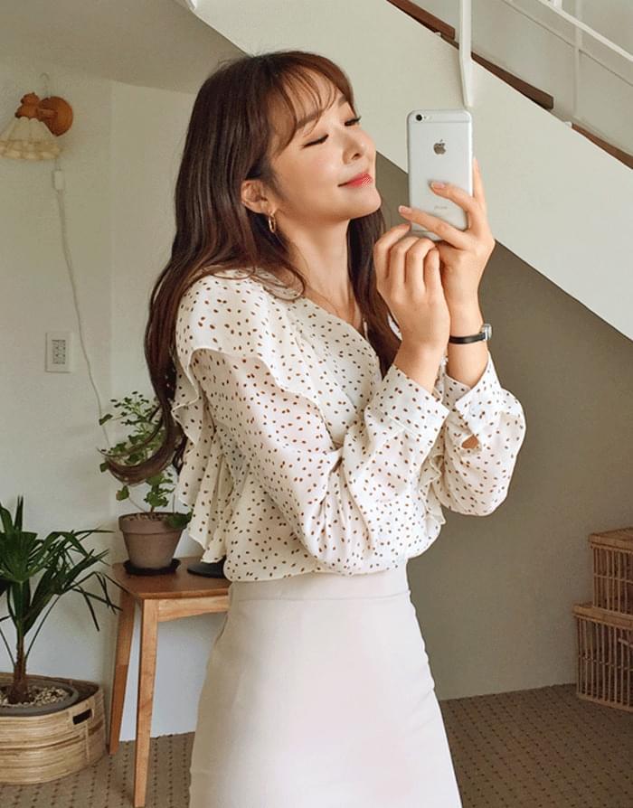 Harmony dot blouse