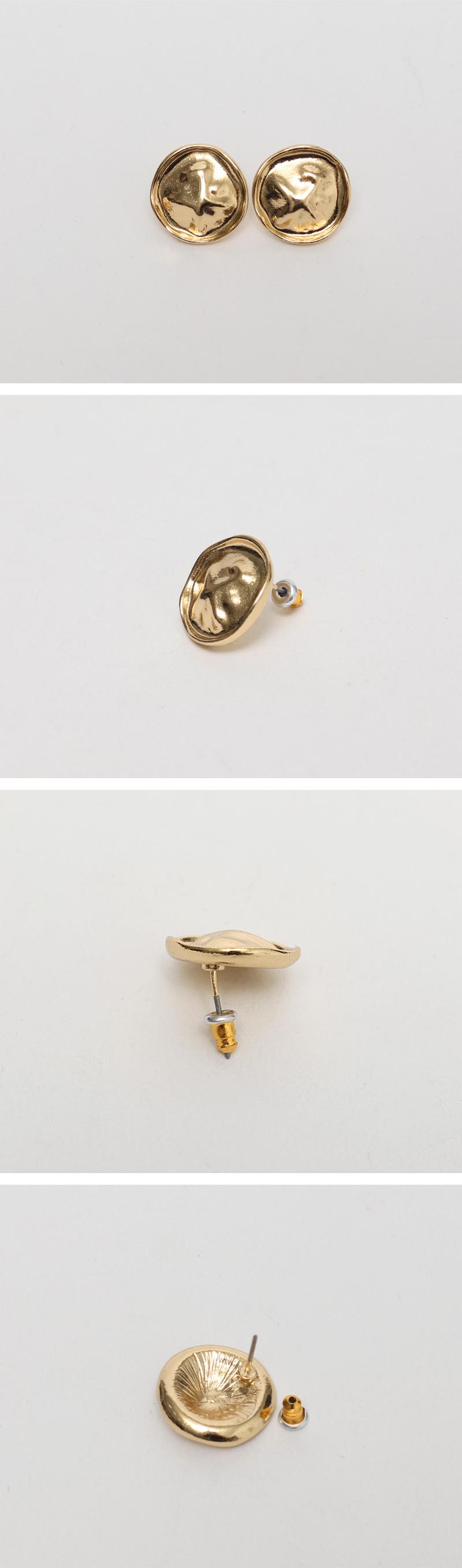 Snow gold earring set_B