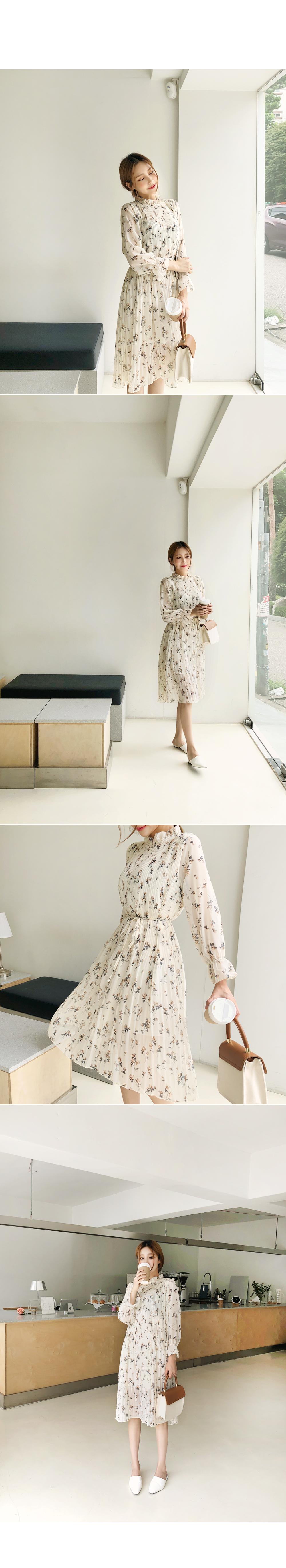 Pounding pleated dress