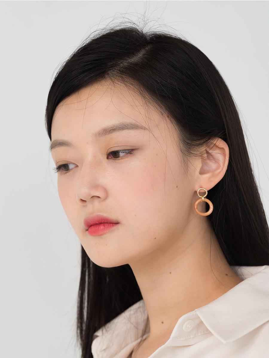 unique color ball earring set