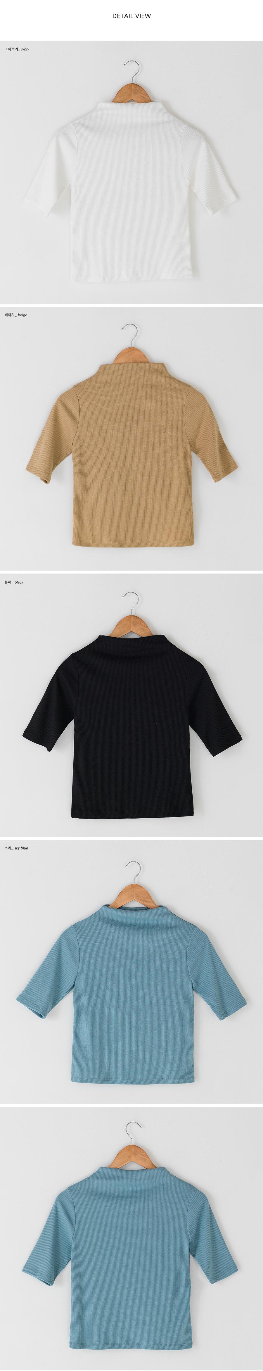Half Sleeve Short-neck tee-tee