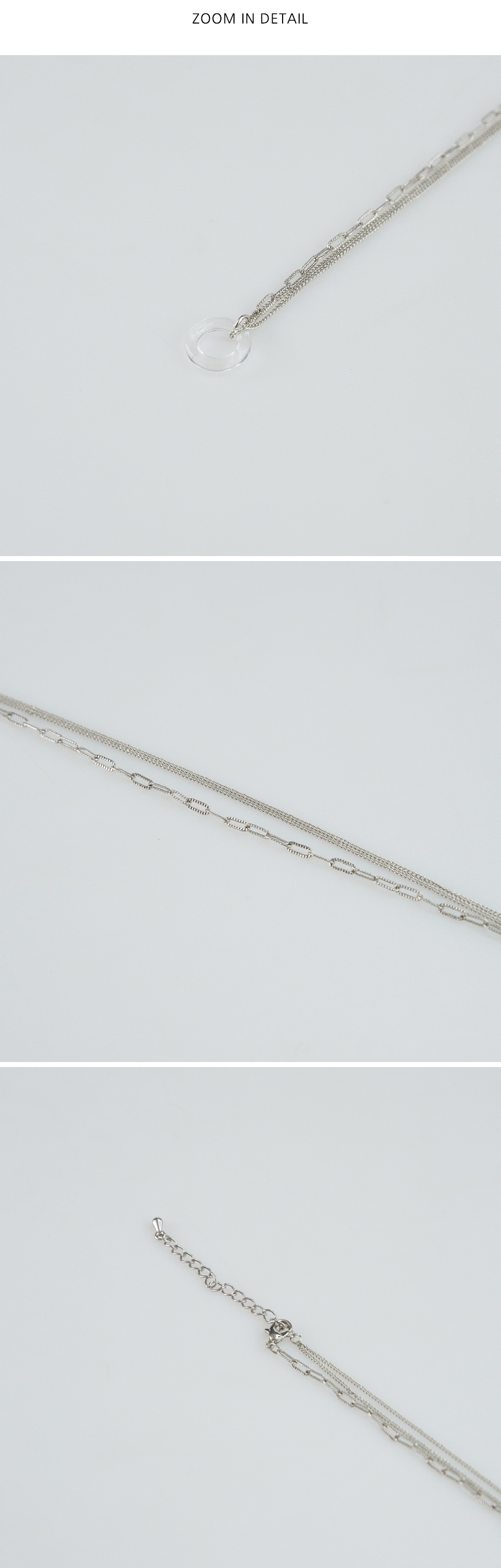 two chain circle necklace