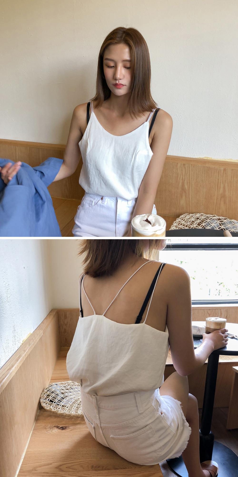 slim strap sleeveless