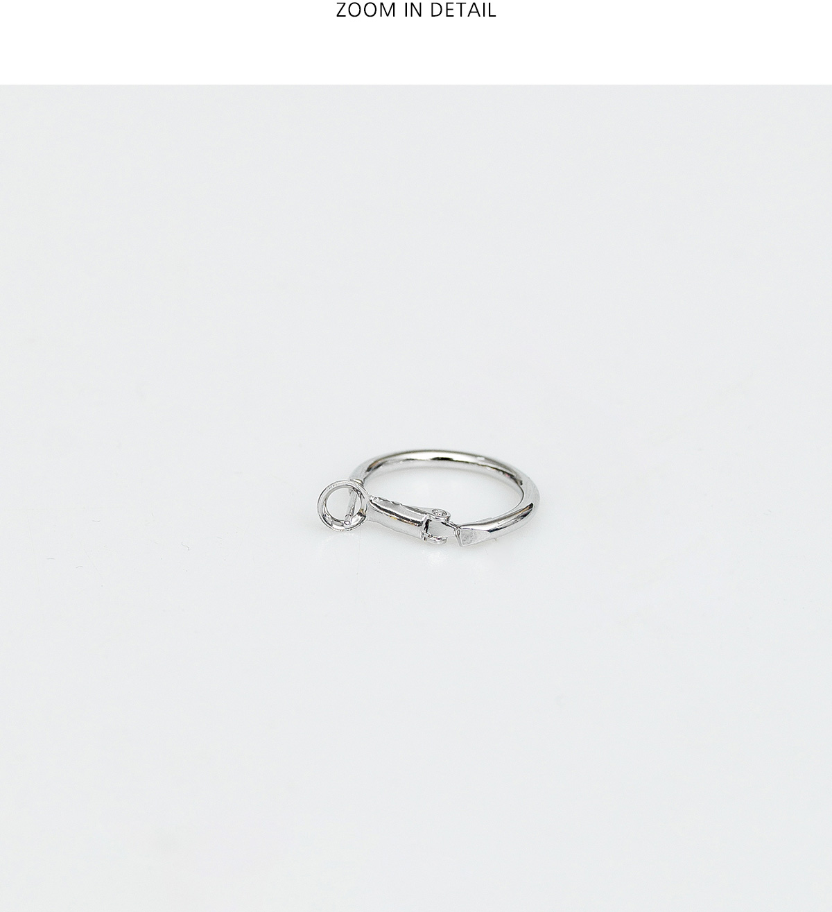 clean fit ring earring