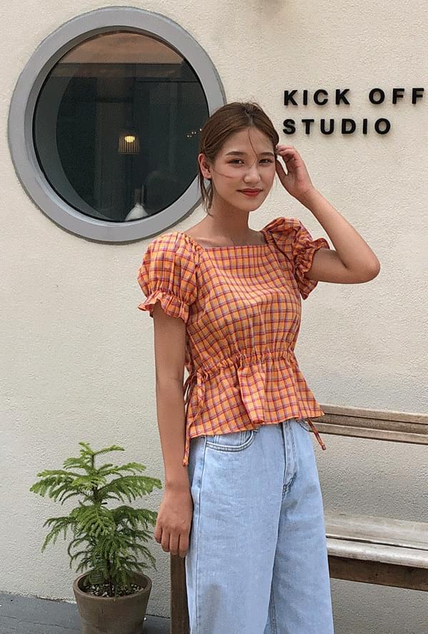 Check string blouse