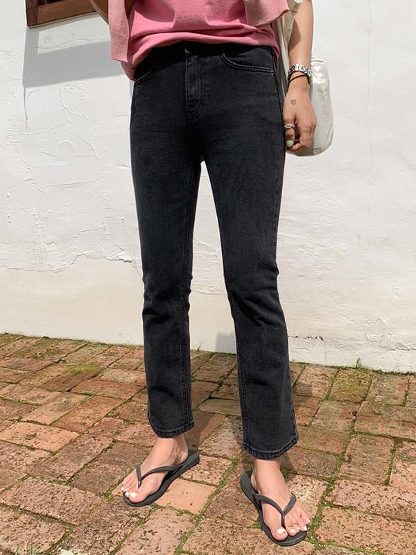 Tantan charcoal straight pants