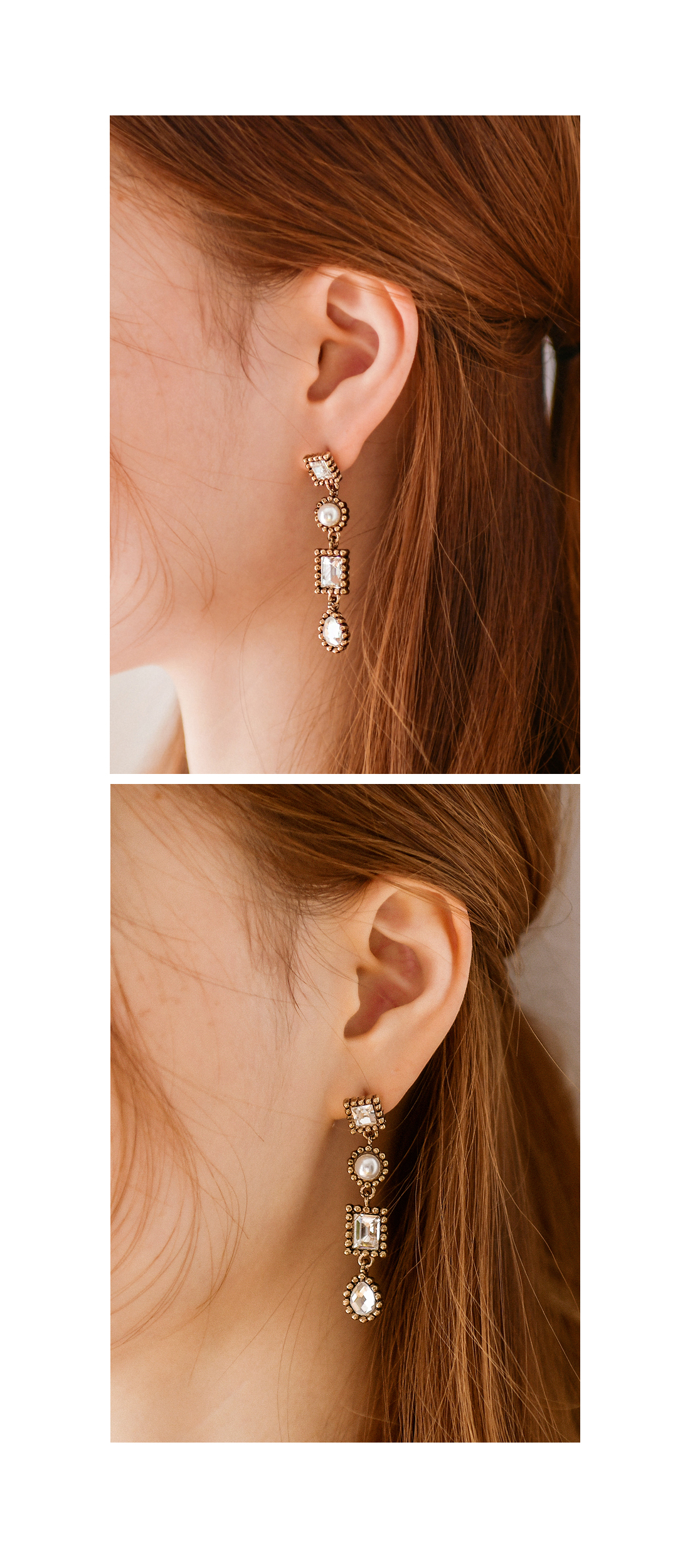 MIX TREASURE DROP EARRING