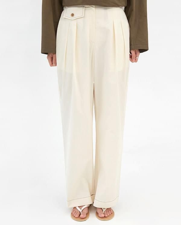 twill stitch line pants