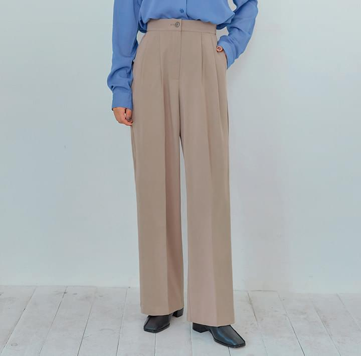 STEADY SET-UP PINTUCK SLACKS