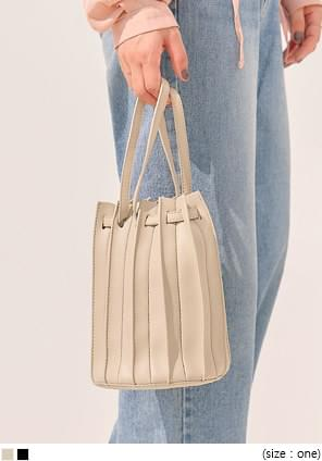 COSTE 2 WAY PLEATS LEATHER BAG 托特包