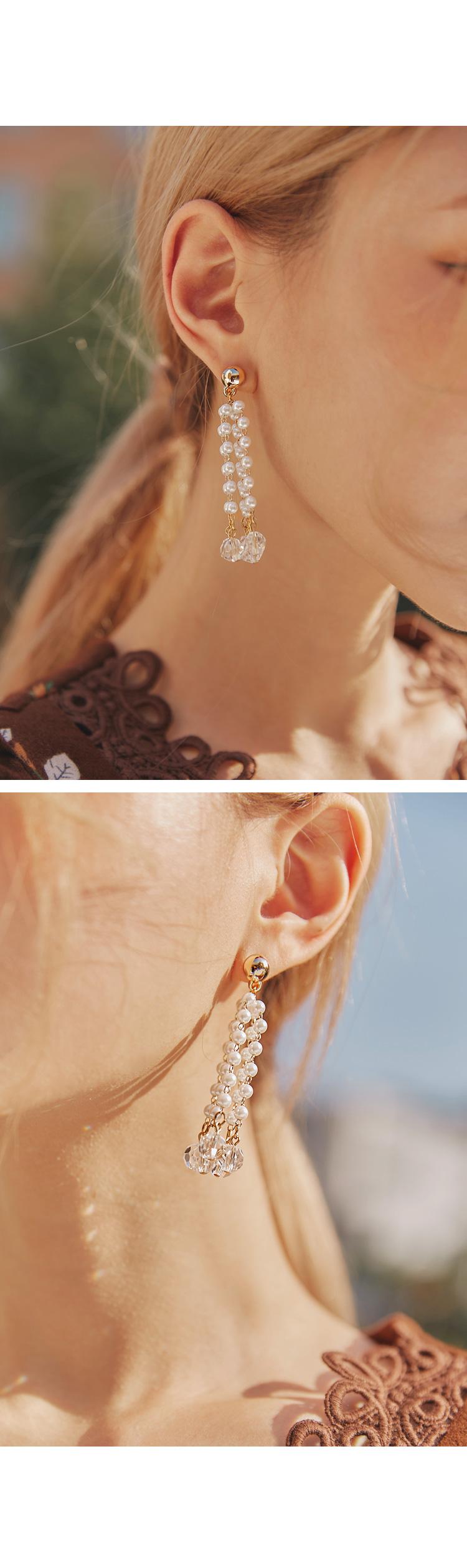 PEARL CRYSTAL DROP EARRING