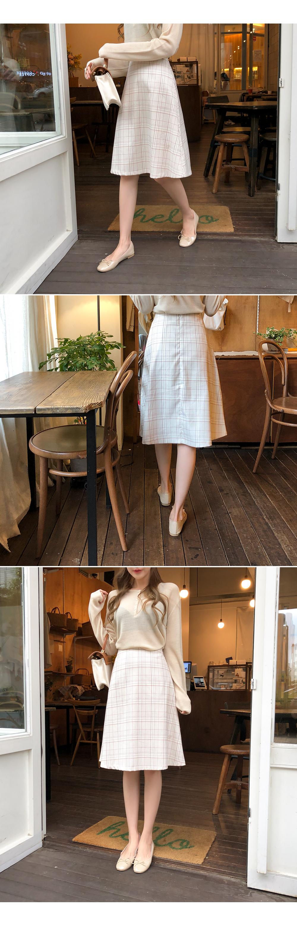 Lovely flared check skirt