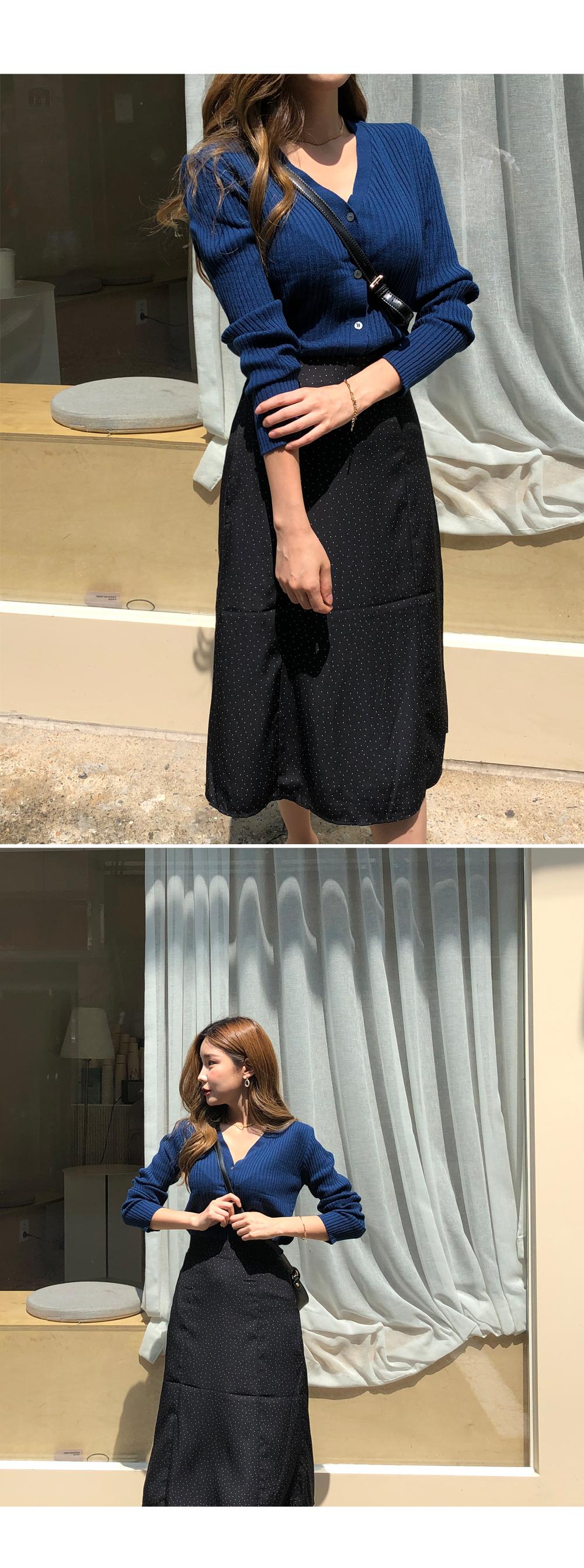 Minimalist Dot Skirt