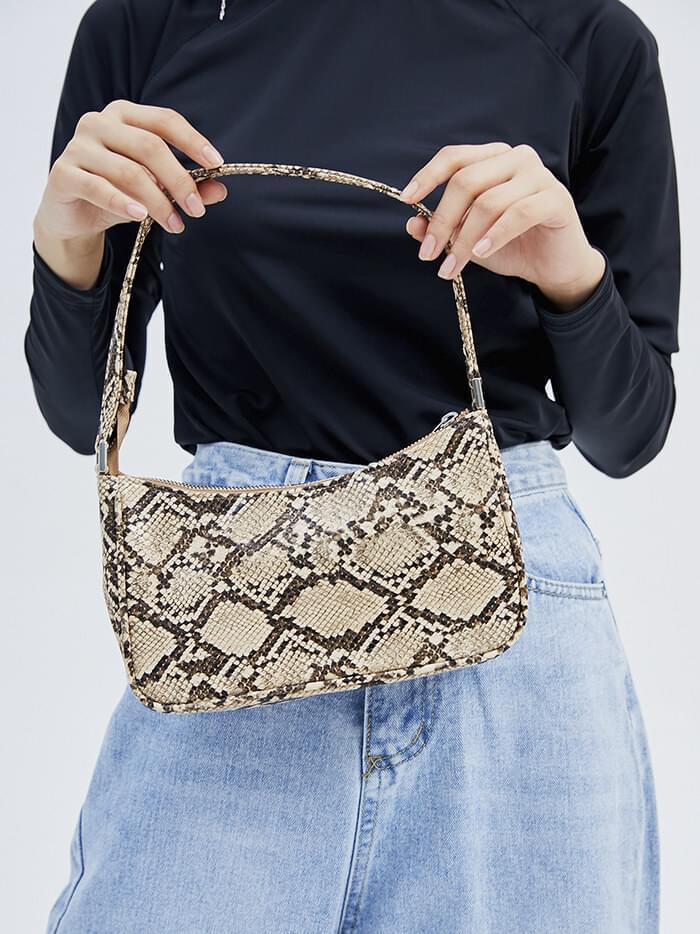 python leather line bag (2 color)