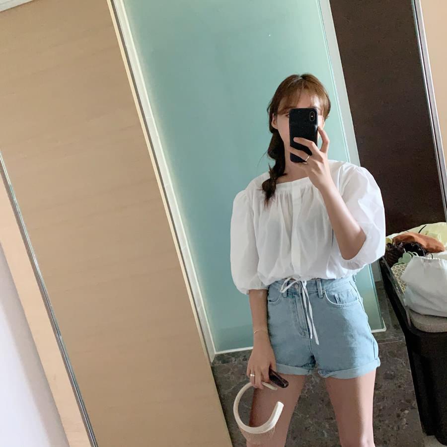 Square string blouse