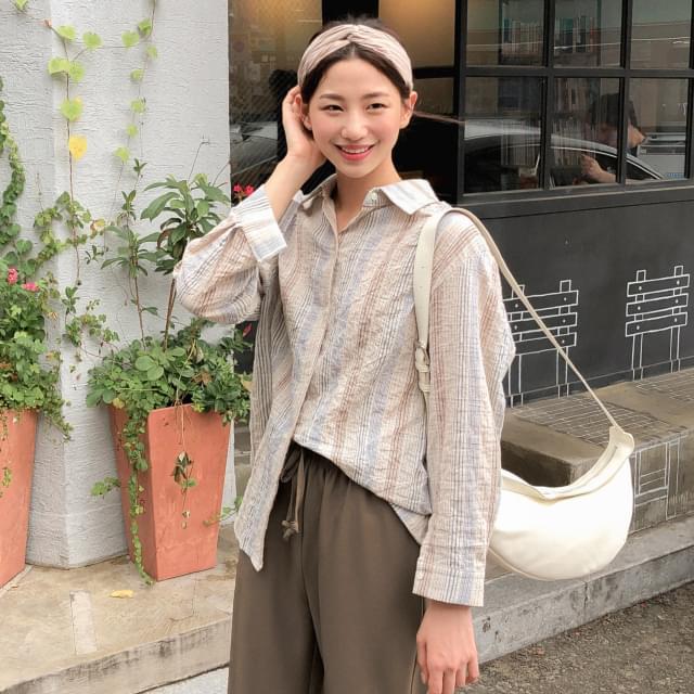 Vintage color striped shirt