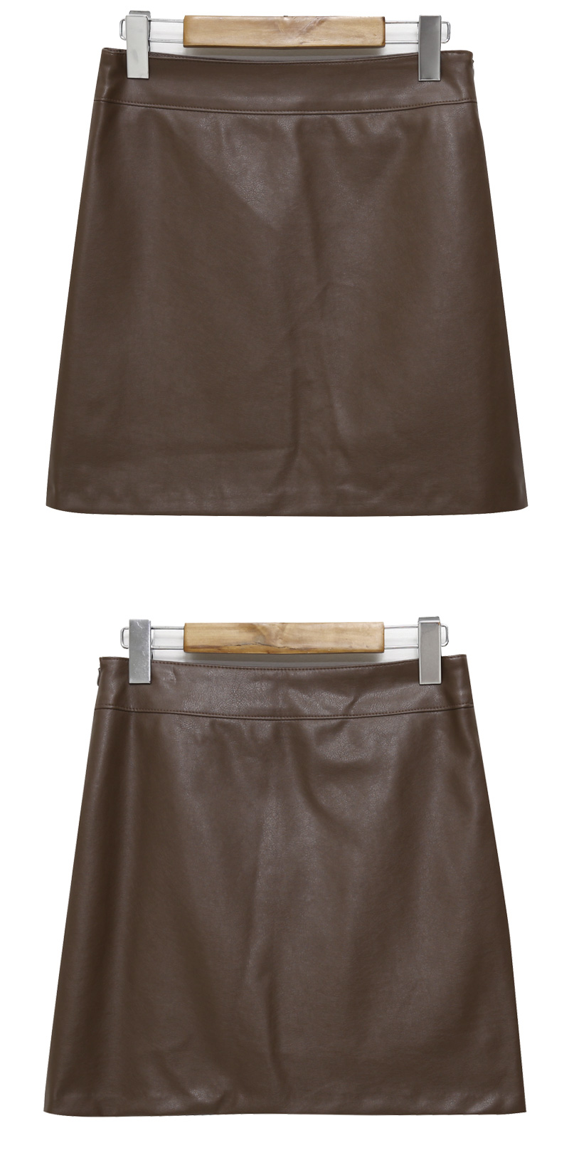 Intro mini leather skirt_J