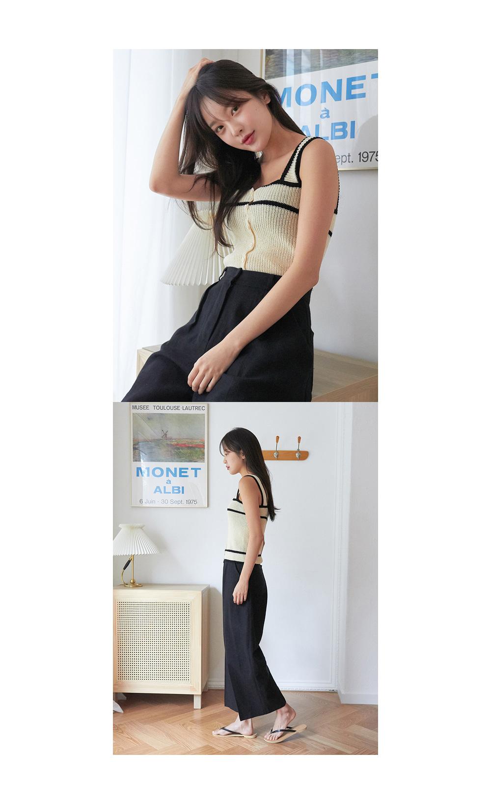 pin basic linen slacks (s, m)