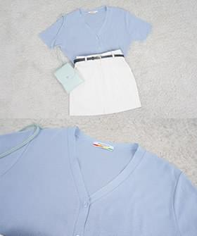 Small Candy Short Sleeve Cardigan