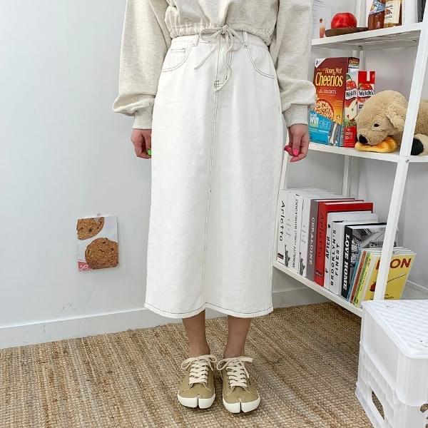 Longdy cotton long skirt
