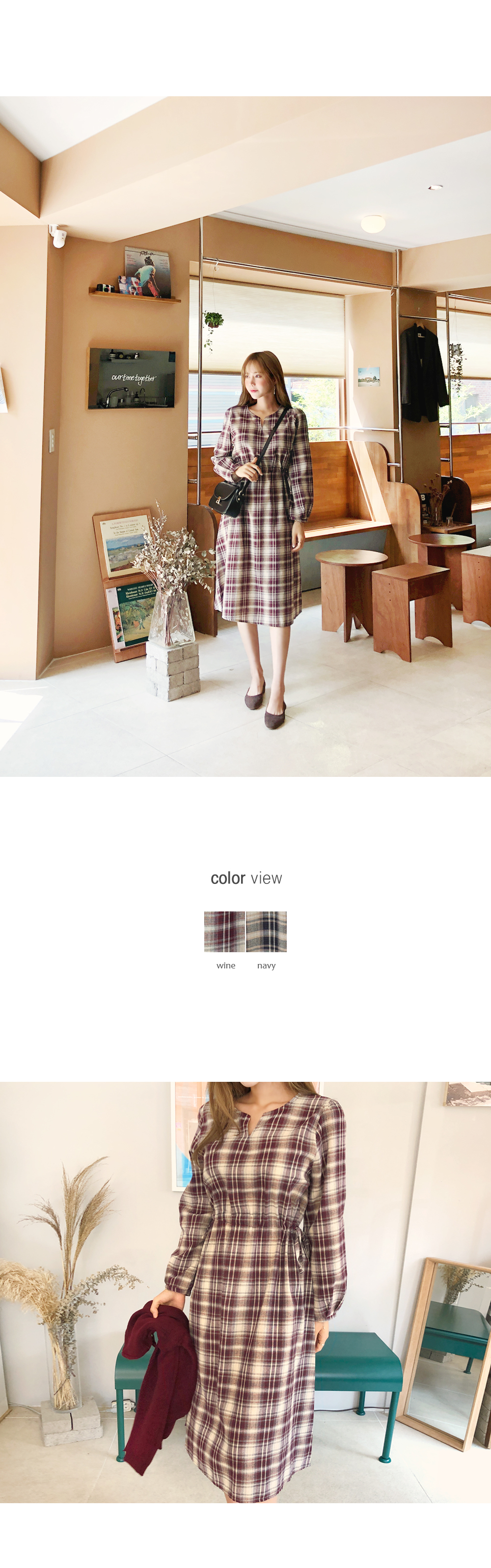 Dress with daily check