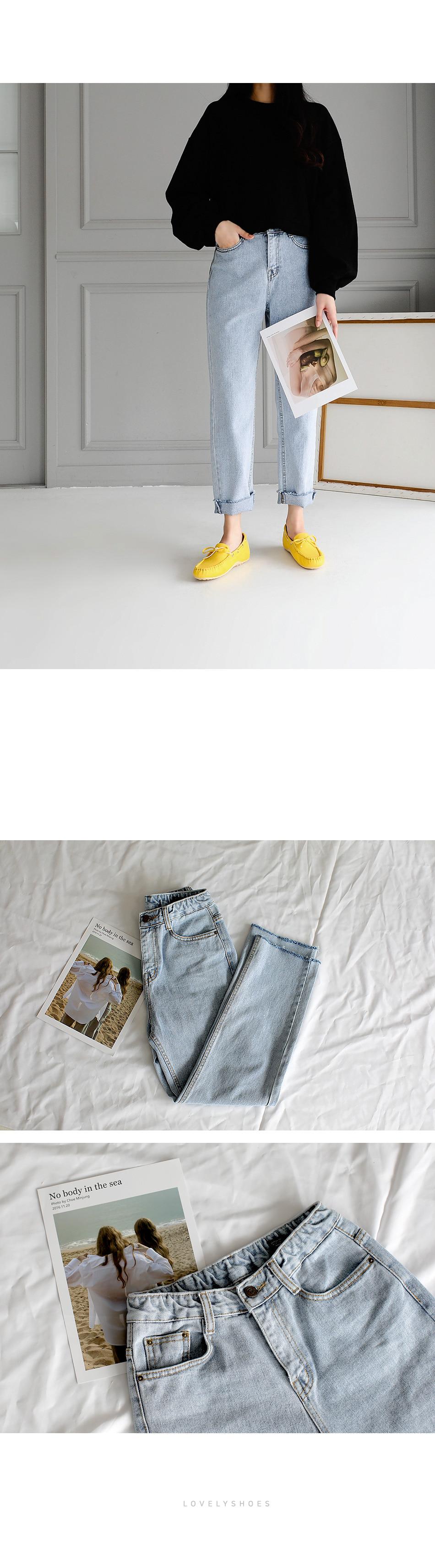 Melons hidden banding denim pants
