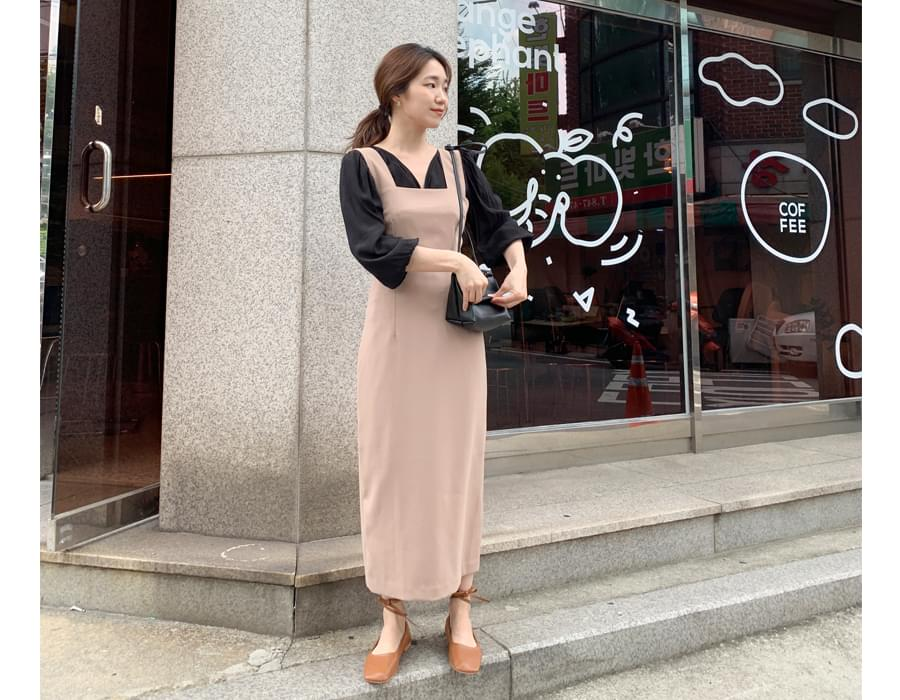 Glare simple line blouse_C