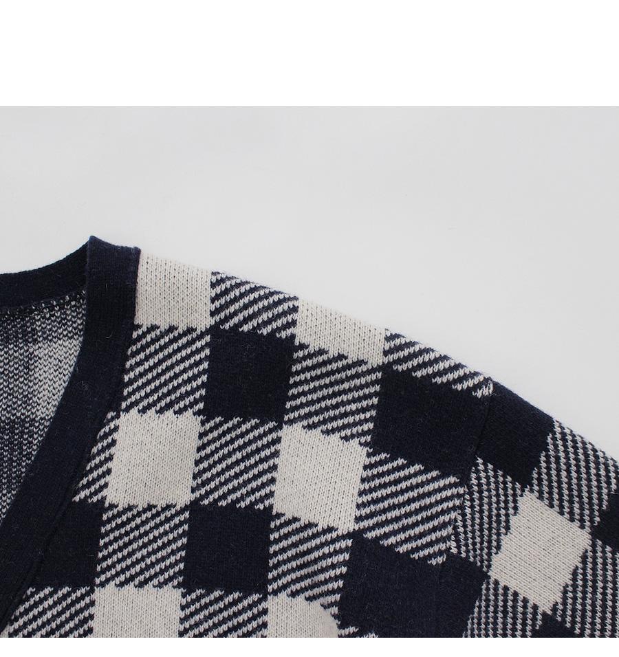 Zakapa- check cardigan