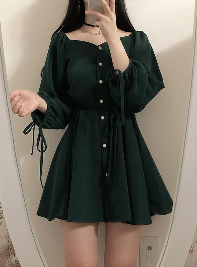 Order Runaway Discount ♥ Baby Shoulder Ribbon Dress