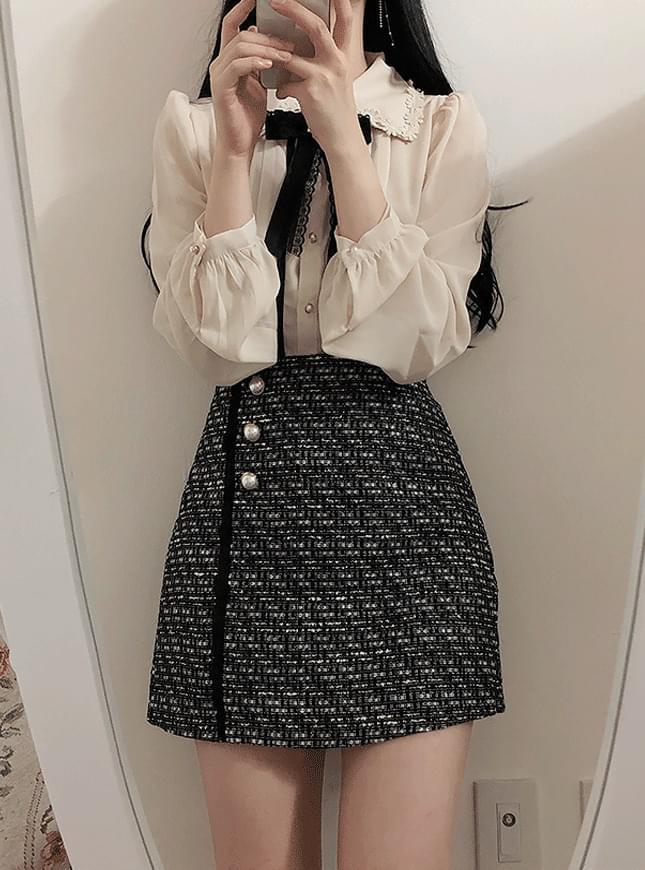 신상할인♥스텔라 트위드 스커트팬츠(핑크,블랙)