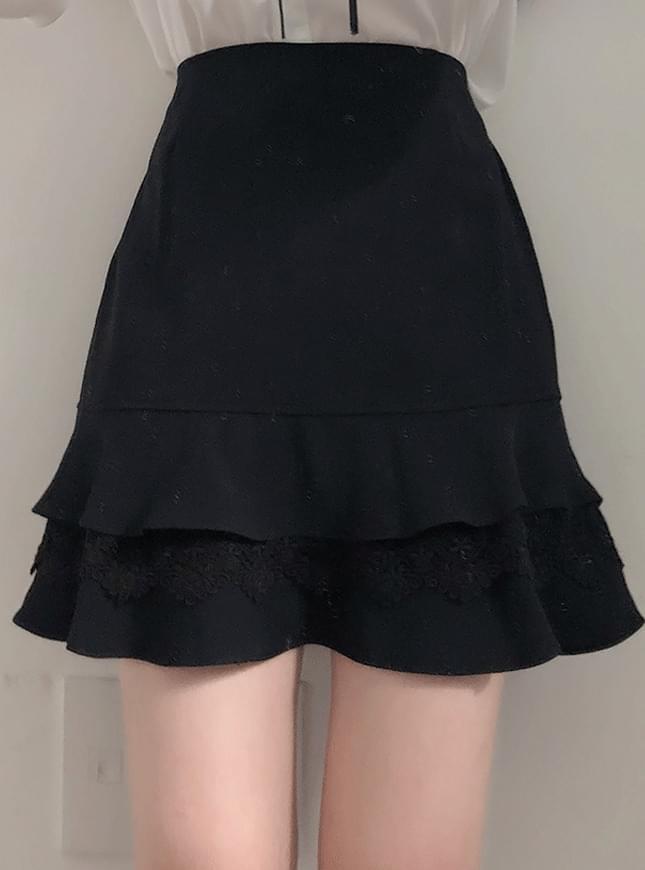 신상할인♥하이디 이단프릴 스커트팬츠(블랙)