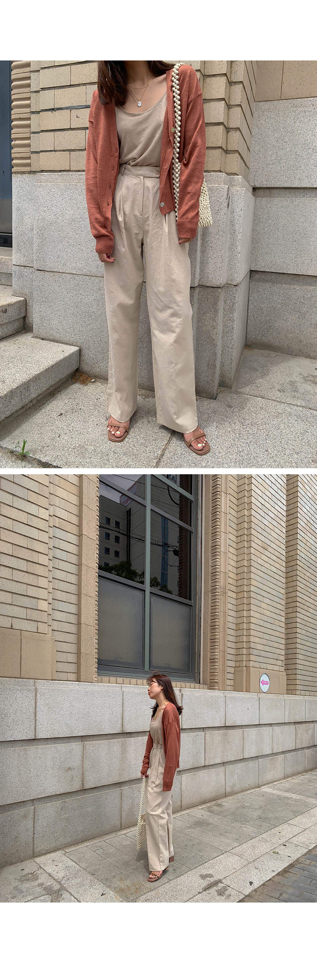 Touche Wide Linen Slacks
