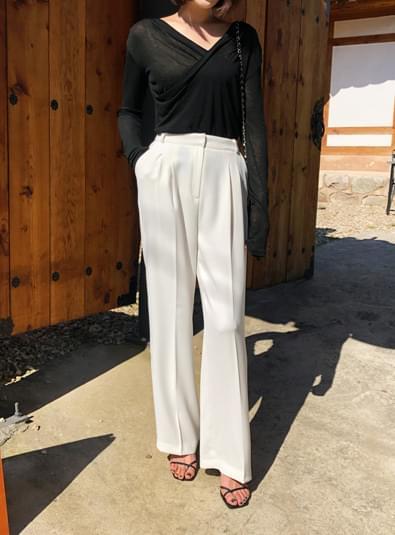 사이드 핀턱 pants (*3color)