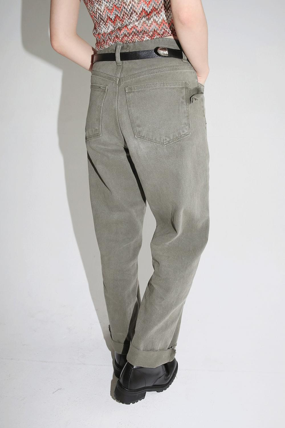 cool washed solid cotton pants (2colors)