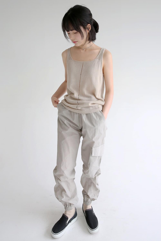 sheen crispy texture jogger pants (2colors)