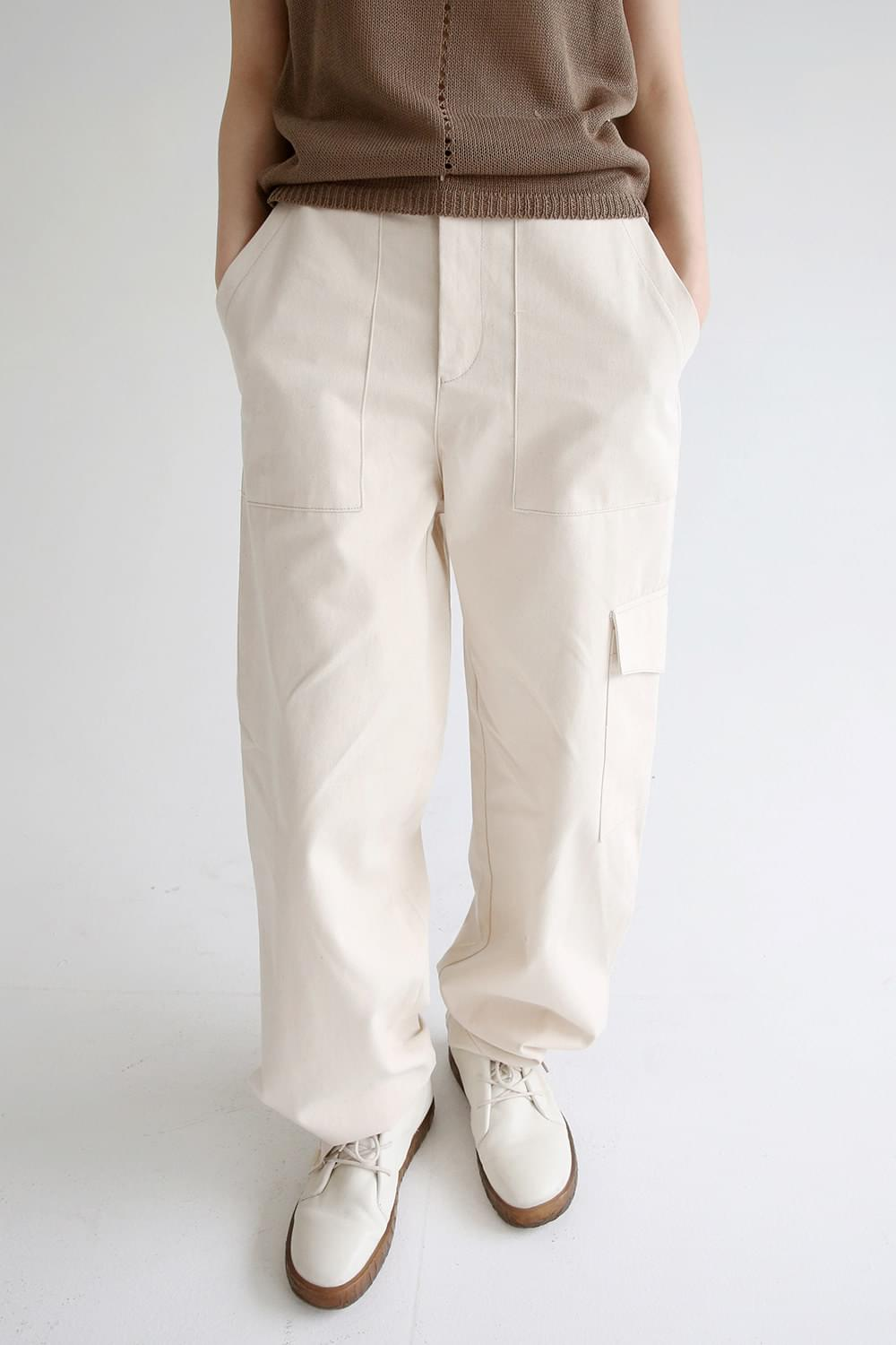 white stich detail over pants (ivory)