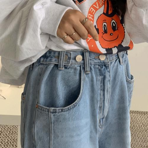 Button-wide 3-piece Bending Pants