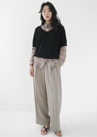soft color wide slacks (5colors)
