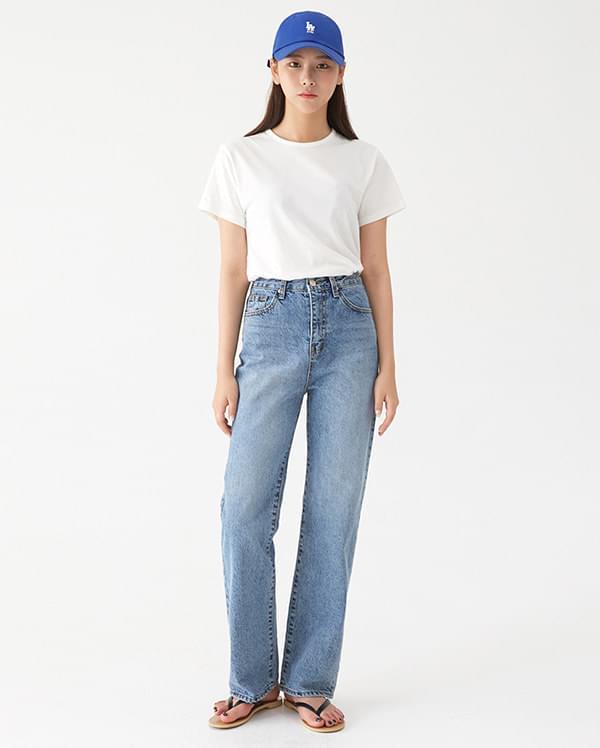 fleta straight denim pants