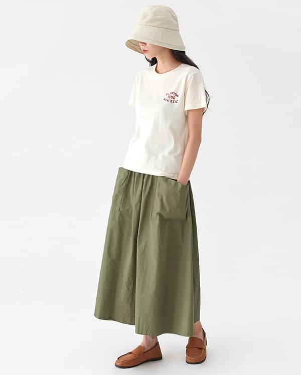 live pocket long skirt