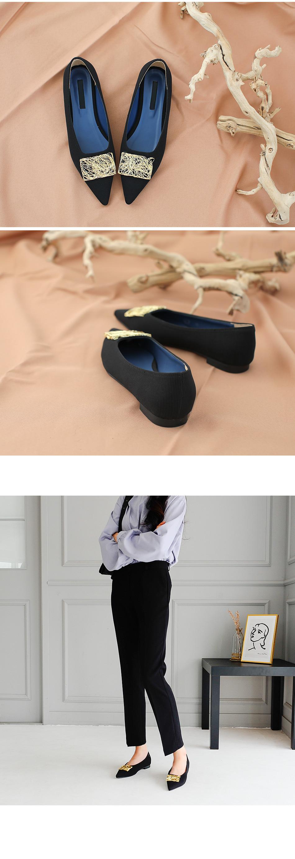 Bellows Flat Shoes 1cm