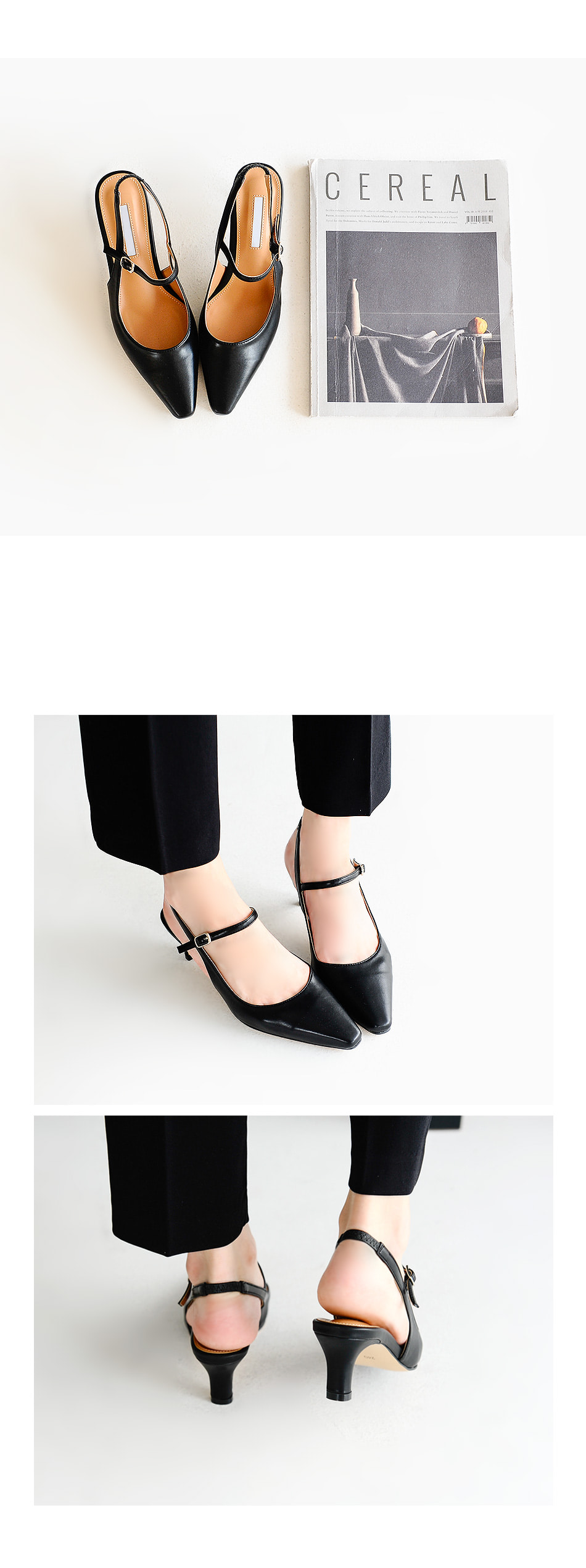 Laberoon Slingback Middle Heel 5cm