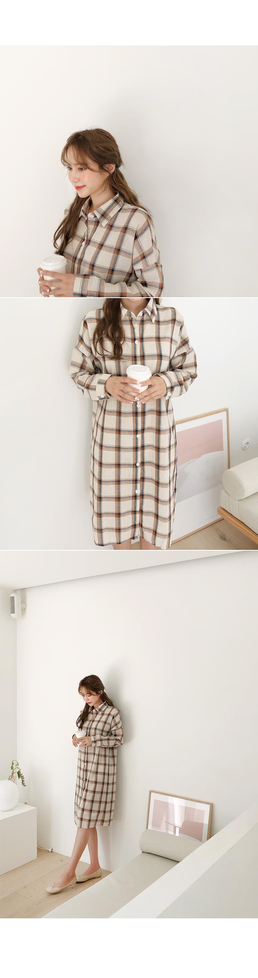 Modern Check Shirt Dress