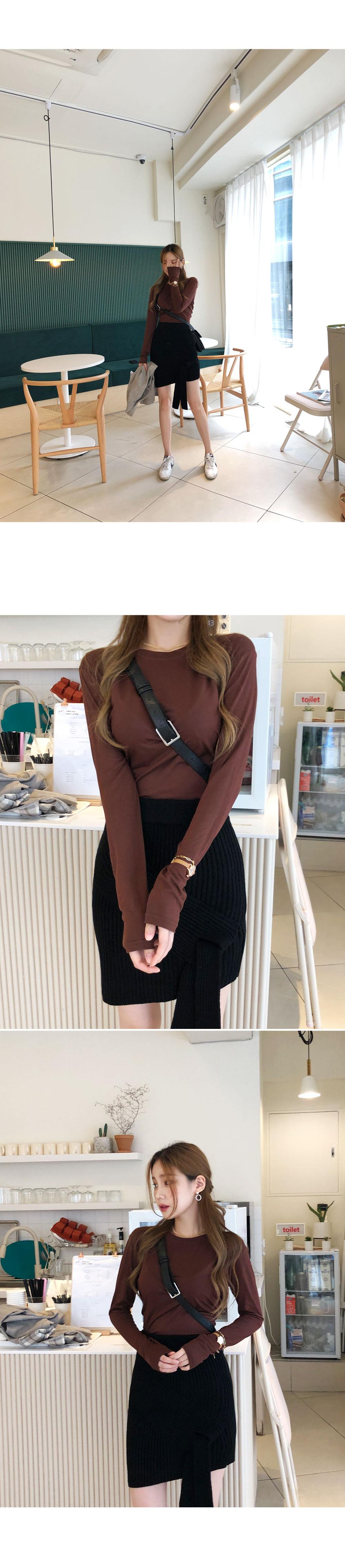 Stylish knit skirt