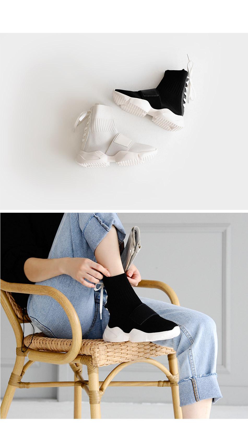 Rapidel Lace-up Socks Slip-on 5cm